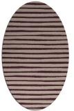 rug #382533 | oval stripes rug