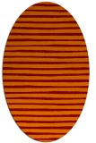 rug #382565 | oval orange stripes rug