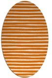 rug #382569   oval orange popular rug