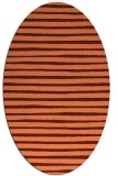 rug #382577 | oval orange stripes rug