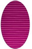 rug #382585   oval pink stripes rug