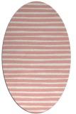 rug #382597 | oval white stripes rug