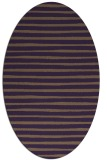 rug #382609 | oval purple stripes rug