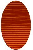 rug #382621 | oval orange popular rug