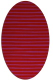 rug #382629 | oval red stripes rug