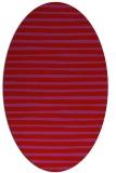 rug #382629 | oval red popular rug