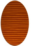 rug #382633 | oval red-orange stripes rug