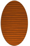 rug #382641 | oval red-orange stripes rug