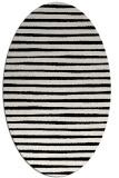 rug #382649 | oval white stripes rug