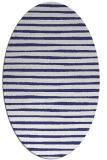 rug #382657 | oval white stripes rug