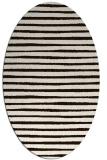 rug #382673 | oval brown stripes rug