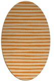 rug #382693   oval beige stripes rug