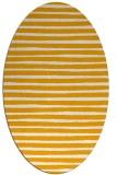 rug #382713 | oval light-orange popular rug