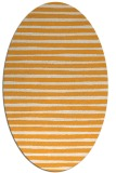 rug #382725 | oval light-orange stripes rug