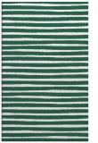 rug #382861 |  blue-green stripes rug