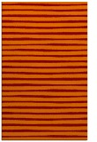 rug #382917 |  red-orange stripes rug