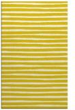 rug #383029    yellow stripes rug