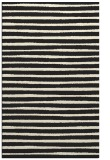 rug #383037 |  black stripes rug