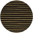 rug #383101 | round brown stripes rug