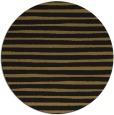 rug #383197   round black stripes rug