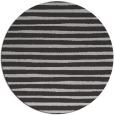 rug #383281 | round red-orange stripes rug