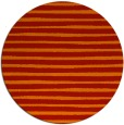 rug #383325 | round red stripes rug