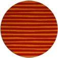 rug #383325 | round orange stripes rug