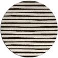rug #383377 | round brown stripes rug