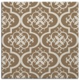 rug #383937 | square mid-brown traditional rug