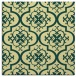 rug #383989 | square yellow traditional rug