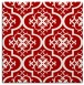 rug #384025 | square red traditional rug