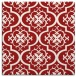 rug #384033 | square red traditional rug