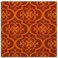rug #384041 | square red-orange traditional rug