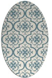 rug #384161 | oval white traditional rug