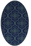rug #384169 | oval blue traditional rug