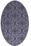 rug #384225 | oval blue-violet traditional rug
