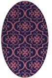 rug #384229   oval blue-violet traditional rug