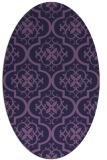 rug #384233   oval purple traditional rug
