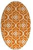 rug #384329 | oval orange rug