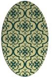 rug #384341 | oval yellow traditional rug
