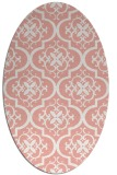 rug #384357 | oval white traditional rug