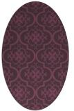 rug #384361   oval purple traditional rug