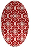 rug #384377   oval red traditional rug