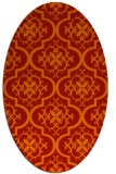 rug #384381 | oval red traditional rug