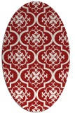 rug #384385 | oval red traditional rug