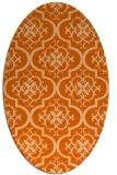 rug #384397 | oval red-orange traditional rug