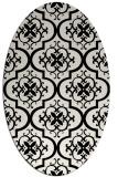 rug #384409 | oval white traditional rug