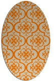 rug #384453 | oval beige traditional rug