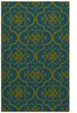 rug #384549 |  green traditional rug