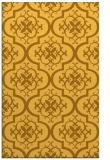 rug #384793 |  yellow traditional rug